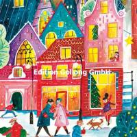 Carte Joyeux Noêl ou Nouvel an Caroline Bonne Ville à Noël