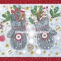 Carte Joyeux Noël ou Nouvel an Kerstin Hess Moufles