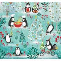 Carte Joyeux Noêl ou Nouvel an Mila Marquis Les Pingouins en Fête