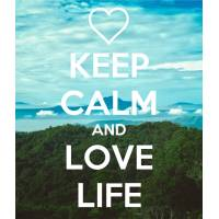 "Carte ""Keep Calm and Love Life"""