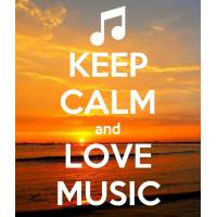 "Carte ""Keep Calm and Love Music"""