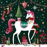 Carte Joyeux Noêl ou Nouvel an Mila Marquis La Licorne