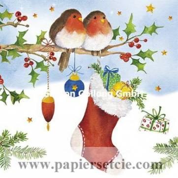 Carte Joyeux Noël ou Nouvel an Carola Pabst Rouge Gorges