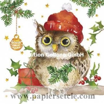 Carte Joyeux Noël ou Nouvel an Carola Pabst La Chouette
