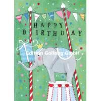 Carte Anniversaire Herstin Hess Elephant au cirque