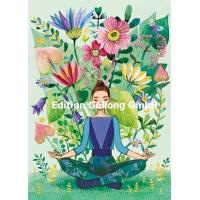 """Carte Anniversaire Mila Marquis rectangulaire """"Yoga"""""""