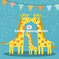 Carte Naissance Papa, Maman et Bébé Girafes