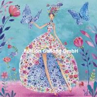 Carte Anniversaire Mila Marquis La robe à fleurs