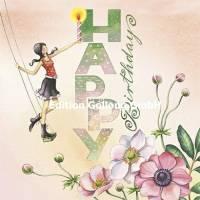 Carte Anniversaire Nina Chen Happy Birthday et Bougie