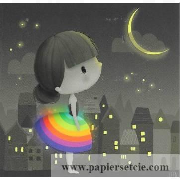 Carte Elen Lescoat Petit Arc en Ciel dans la nuit
