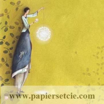 Carte double Gaelle Boissonnard 14 x 15,5  Le Lampion