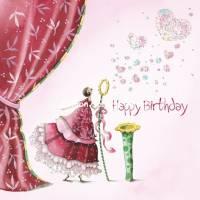 Carte Anniversaire Nina Chen Happy Birthday Bulles de Coeur