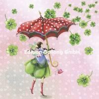 Carte Anniversaire Nina Chen Pluie de trèfles à 4 feuilles