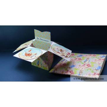 Carte Anniversaire Enfants 3 D Pop Up DIY Peter Rabbit et Roses