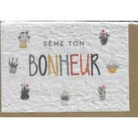 """Carte à planter """"Sème ton Bonheur"""", graines de Fleurs des champs"""