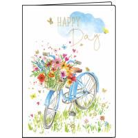 Carnet Vélo fleuri 10,5 x 15 cm 40 pages
