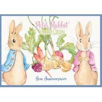 Carte Anniversaire enfants Peter Rabbit Jardin d'Eté