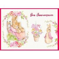 Carte Anniversaire enfants Peter Rabbit Maman et Bébés