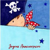 Carte Anniversaire enfants Petit Pirate Petit Boy