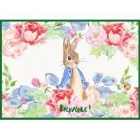 Carte Naissance Beatrix Potter Peter Rabbit dans les Roses