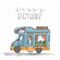 Carte Anniversaire Annette Wötzel Le Camping Car