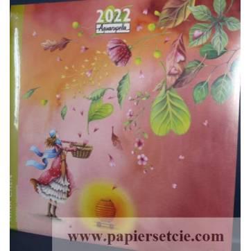 Calendrier 2022 30 x 30 Nina Chen Le Panier de Coeurs