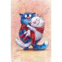 "Carte Chat Rina Zeniuk Chats amoureux ""L'Amoooour"""