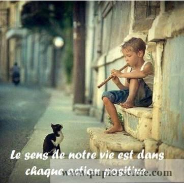 Citation sur la Vie Le sens de notre vie est dans chaque action positive !
