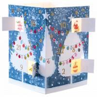 Carte calendrier de l'Avent lumineux Les Arbres de Noël