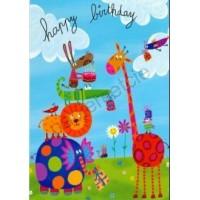 Carte Corinne Bittler Happy birthday Tout en haut!