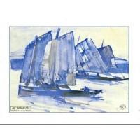 Carte Mathurin Méheut Les barques