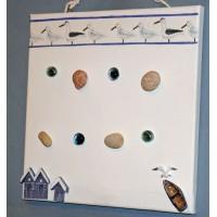 Pêle-Mêle 30x30 blanc magnétique Mouettes cabanes