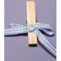Pinces noeuds bleu clair et blanc