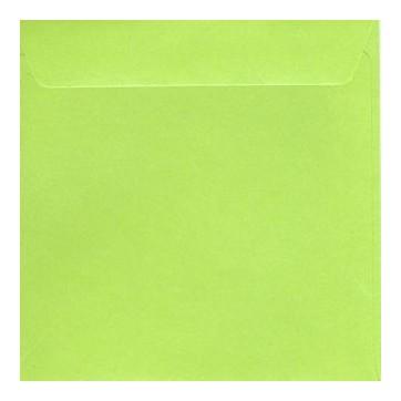 Enveloppe carrée  vert  nacré