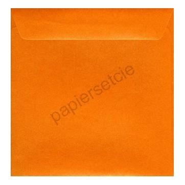 Enveloppe carrée orange nacré