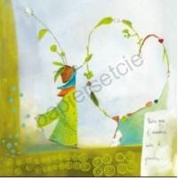 Carte Anne Sophie Rutsaert Parce que l'amour aide à grandir...