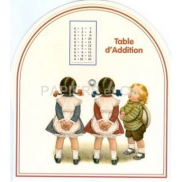 Disque table d'addition D 17