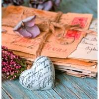 Carte Pile de vieilles lettres