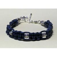 Bracelet macramé marine perles metal breloque ancre