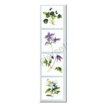 Marque-Pages Fleurs violettes
