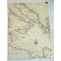 Livre d'Or artisanal Papier Carte Méditerranée