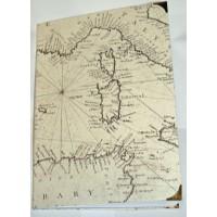 Carnet artisanal Papier Carte ancienne Méditerranée