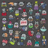 Calendrier 2016 30x30 Lali Mouse wanted