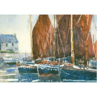 Carte Philippe Vandenberghe 3 Voiles rouges