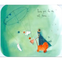 """Carte format """"Ecran"""" Anne-Sophie Rutsaert Parce que la vie est douce"""