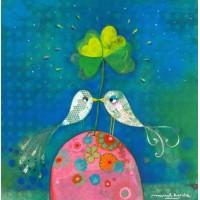 Carte Muriel Kerba Les Oiseaux amoureux