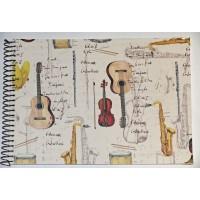 Grand Livre d'Or artisanal à spirales Musique
