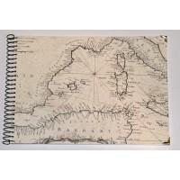 Grand Livre d'Or artisanal à spirales Carte Méditerranée