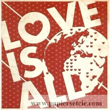 """Carte Florence Weizer """"Love is All"""""""