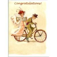 Carte double Anne-Soline Sintès Congratulations Just Married!